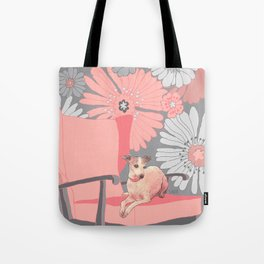 Dog in a chair #3 Italian Greyhound Tote Bag