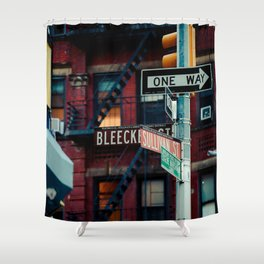 Bleecker & Sullivan Street Shower Curtain