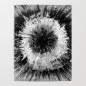 Black and White Tie Dye // Painted // Multi Media by aej_design