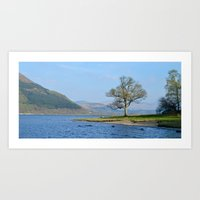 A view from the lake (colour) Art Print