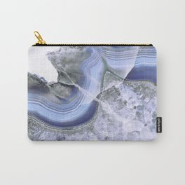Intense Blue Agate Carry-All Pouch