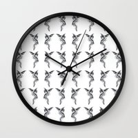 hydra Wall Clocks featuring Hydra by STiCK MONSTER iNK