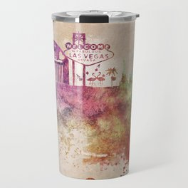 Las Vegas skyline art Travel Mug