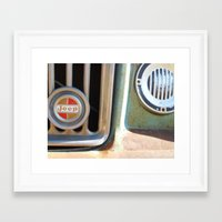 jeep Framed Art Prints featuring Jeep by AnniarchyDesigns
