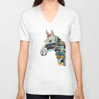 mod V-neck T-shirts featuring the mod horse by bri.buckley