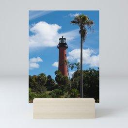 Jupiter Lighthouse Color Tropical / Coastal Landscape Photograph Mini Art Print