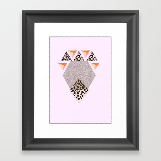 LEOPARD DIAMOND Framed Art Print