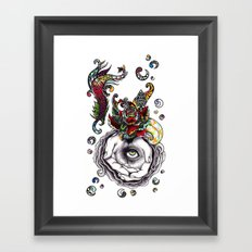 When i looked the second sky Framed Art Print