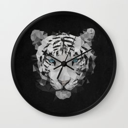 Meduzzle: White Tiger Wall Clock