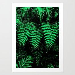 Emerald Triplets Art Print