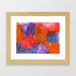 Holding On- Abstract Painting Framed Art Print