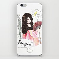 fangirl iPhone & iPod Skins featuring Fangirl by Zomberflie
