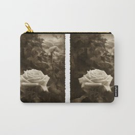 Pink Roses in Anzures 5 Antiqued Carry-All Pouch
