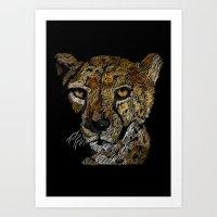 cheetah Art Prints featuring cheetah  by JosephMills