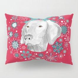 WEIMARANER WREATH Pillow Sham