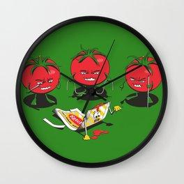 100% Tomate Natural Wall Clock