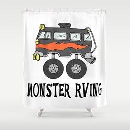 Monster RVing Shower Curtain