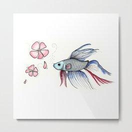 Japanese Fighting Fish Metal Print