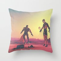 giants Throw Pillows featuring Giants  by @slimesunday