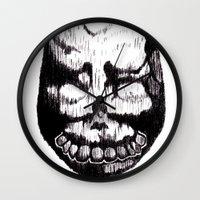 donnie darko Wall Clocks featuring Donnie Darko Frank by Froleyboy