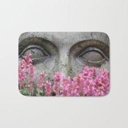 Stoney Eyes Through Flowers Bath Mat