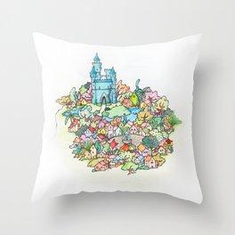 Florapis Throw Pillow