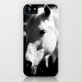 White Horse-Dark iPhone Case