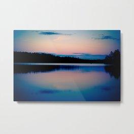 Boundary Waters Sunset Lake Photography Metal Print
