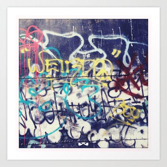 Fallout Shelter Graff. Art Print