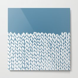 Half Knit Blue Metal Print