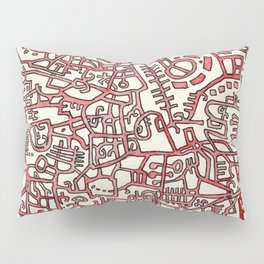 Begin/End Series in Red Pillow Sham