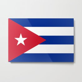 National flag of Cuba - Authentic HQ version Metal Print