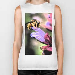 Bee and Flower Biker Tank