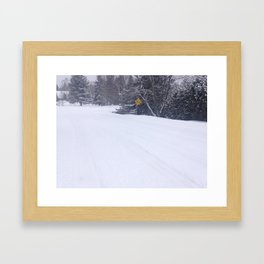 Winter Streets Framed Art Print