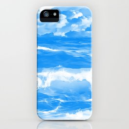 stormy sea waves reacwb iPhone Case