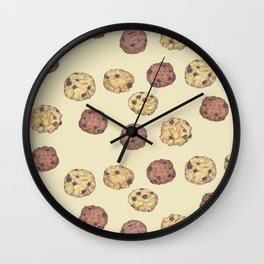 cookies_pattern_light yellow Wall Clock