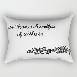 Less Than a Handful of Wishes Rectangular Pillow