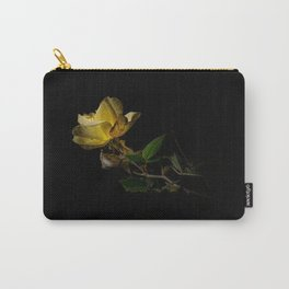 Yellow rose on black Carry-All Pouch