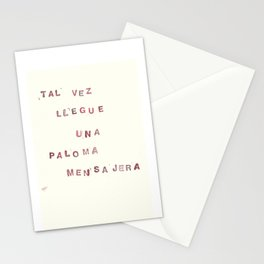 293 palomas mensajeras Stationery Cards