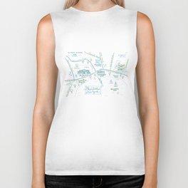 Skaneateles, New York Illustrated Calligraphy Print Biker Tank