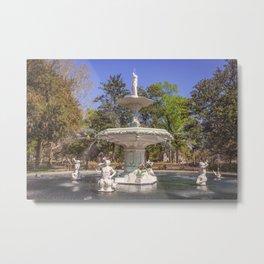 Forsyth Park Fountain Metal Print