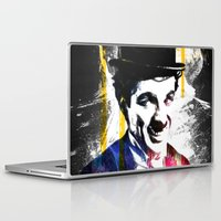 charlie chaplin Laptop & iPad Skins featuring charlie chaplin by manish mansinh