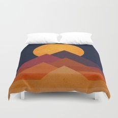 Full moon and pyramid Duvet Cover