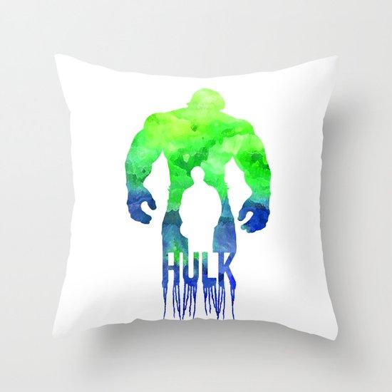 The Hulk Throw Pillow by Jon Hernandez Society6