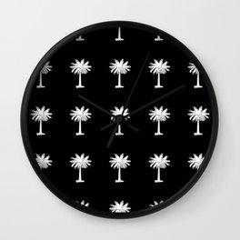 Palmetto 3-palms,drupe,sabal,swamp,cabbage,abanico,drupa,palmera Wall Clock