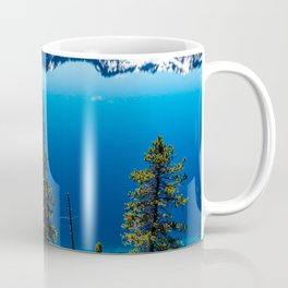 Three Tree View // Crater Lake National Park Oregon Deep Blue Peaceful Water and Mountain Landscape Coffee Mug
