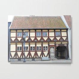 Odense Denmark | Old Danish Houses | Scandinavian House Print Metal Print
