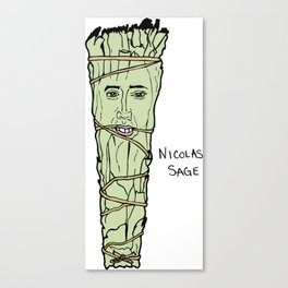 Nicolas Cage Nicolas Sage smudge Canvas Print