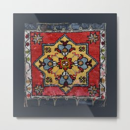 Antique Carpet Sadle Bag Metal Print