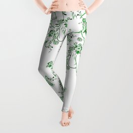 Penis Pattern GREEN Leggings